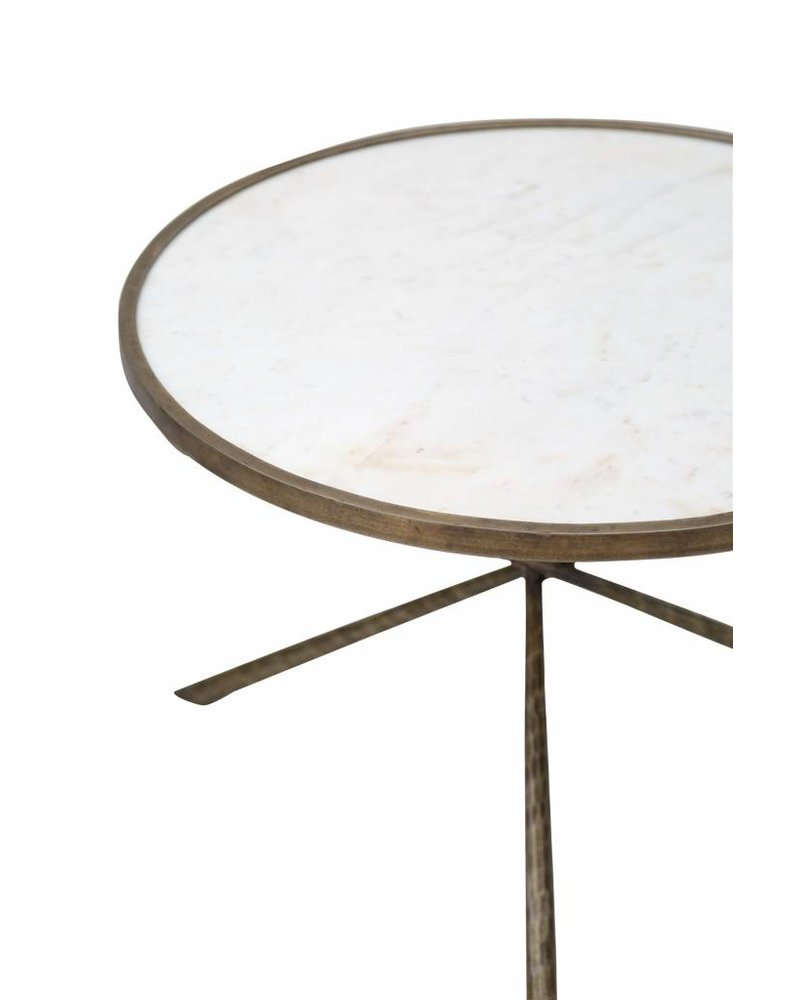 BIDKhome Iron & Marble Tripod Table