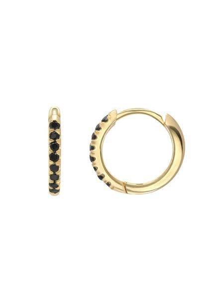 Black Diamond Huggie Earring