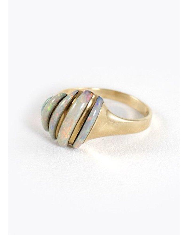 Vintage Jewelry Vintage Opal Slice Ring- size 6