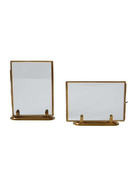 Creative Co-Op Standing Brass & Glass Photo Frame