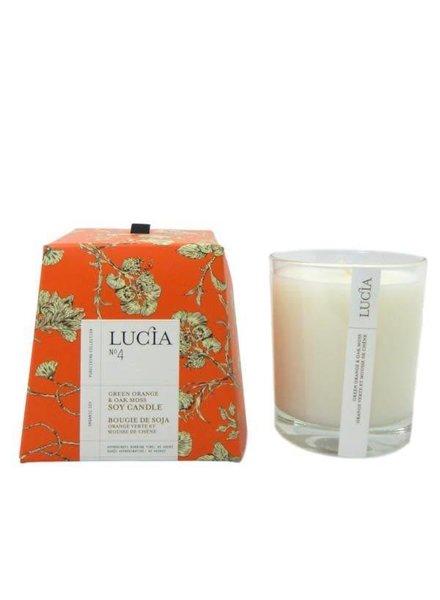 Lucia Lucia Candle- Green Orange & Oak Moss