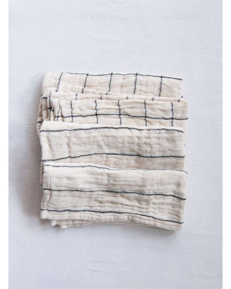 Creative Co-Op Square Woven Cotton Hand Towels- Natural
