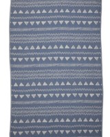 Via Seven One Towel 7 Ways Chalkboard Pattern- Blue