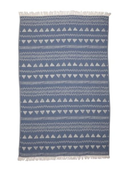 Via Seven One Towel 7 Ways Chalkboard Pattern- Blue