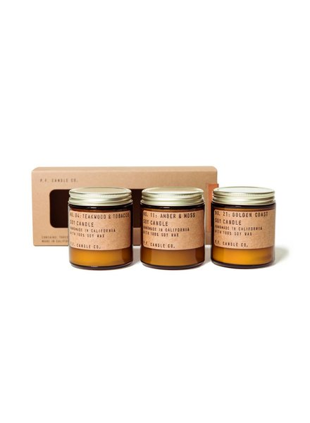 P.F. Candle Co. Essential Candle Combo Mini Pack