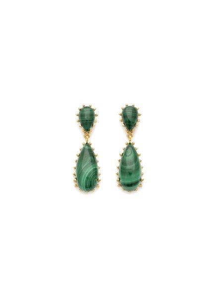 Leah Alexandra Leah Alexandra Damas Earrings   Malachite