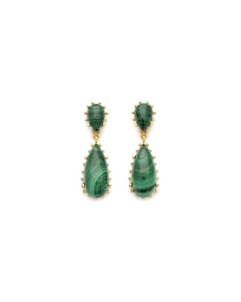 Leah Alexandra Leah Alexandra Damas Earrings | Malachite