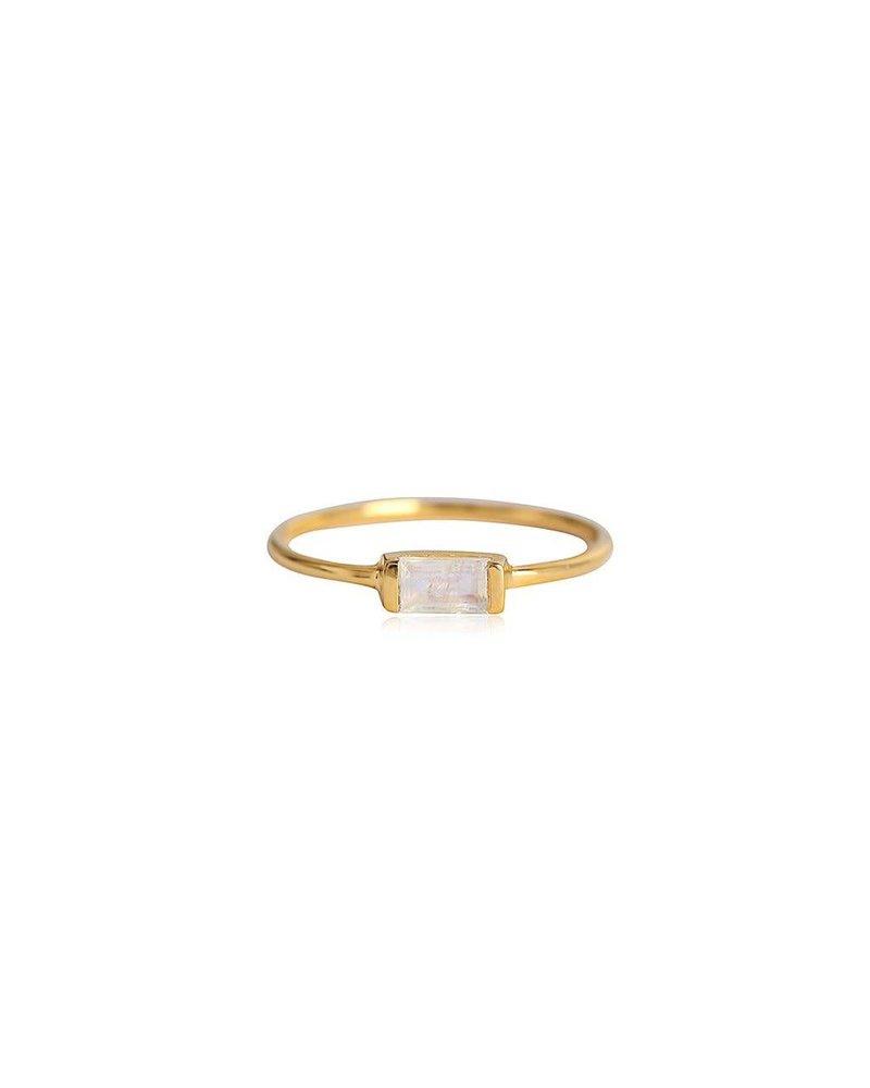 Leah Alexandra Leah Alexandra Channel Ring  Moonstone -size 7