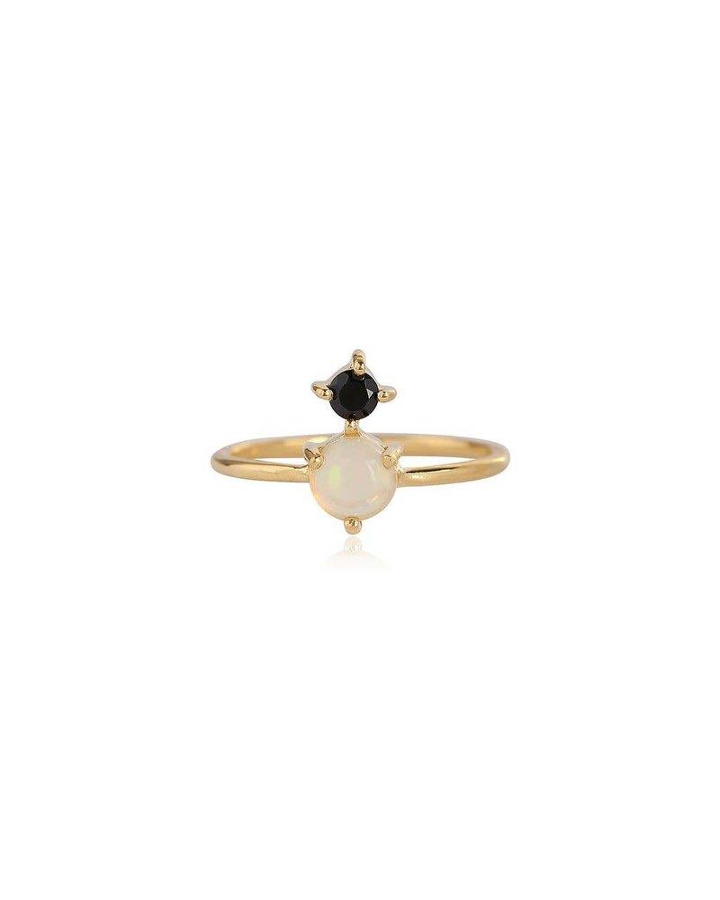 Leah Alexandra Leah Alexandra Opal Ring  Black Garnet- size 7