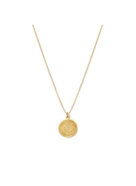 Leah Alexandra Leah Alexandra Mayan Necklace  Gold