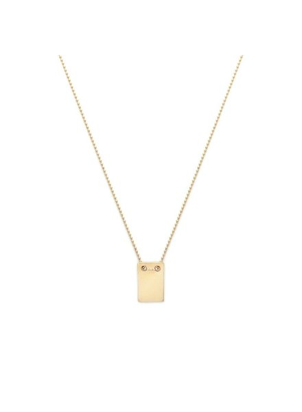 Leah Alexandra Leah Alexandra Note Necklace  Gold