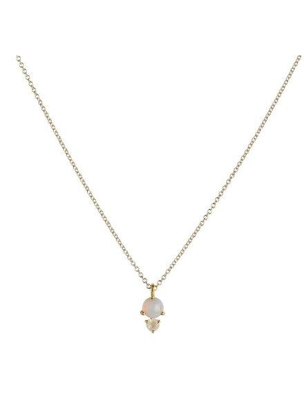 Leah Alexandra Leah Alexandra Opal Necklace Moonstone