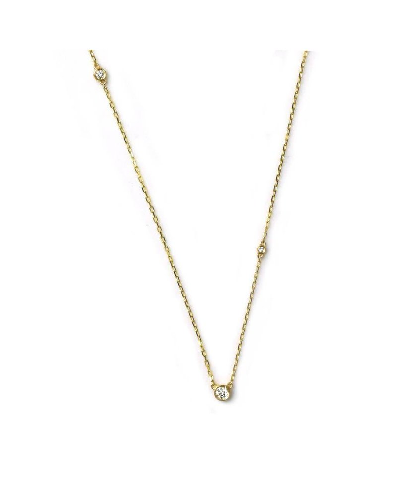 La Kaiser La Kaiser 14kt Gold Eternal Diamond Necklace