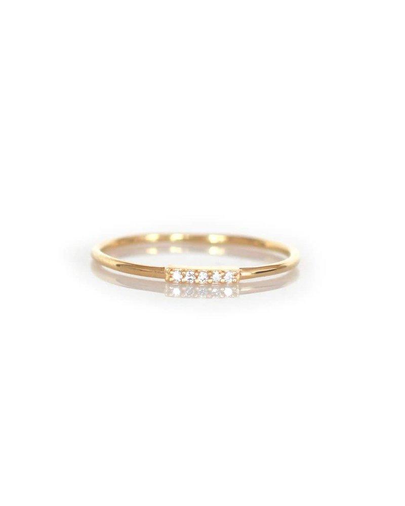 La Kaiser La Kaiser Alinea Ring with White Diamond- size 7