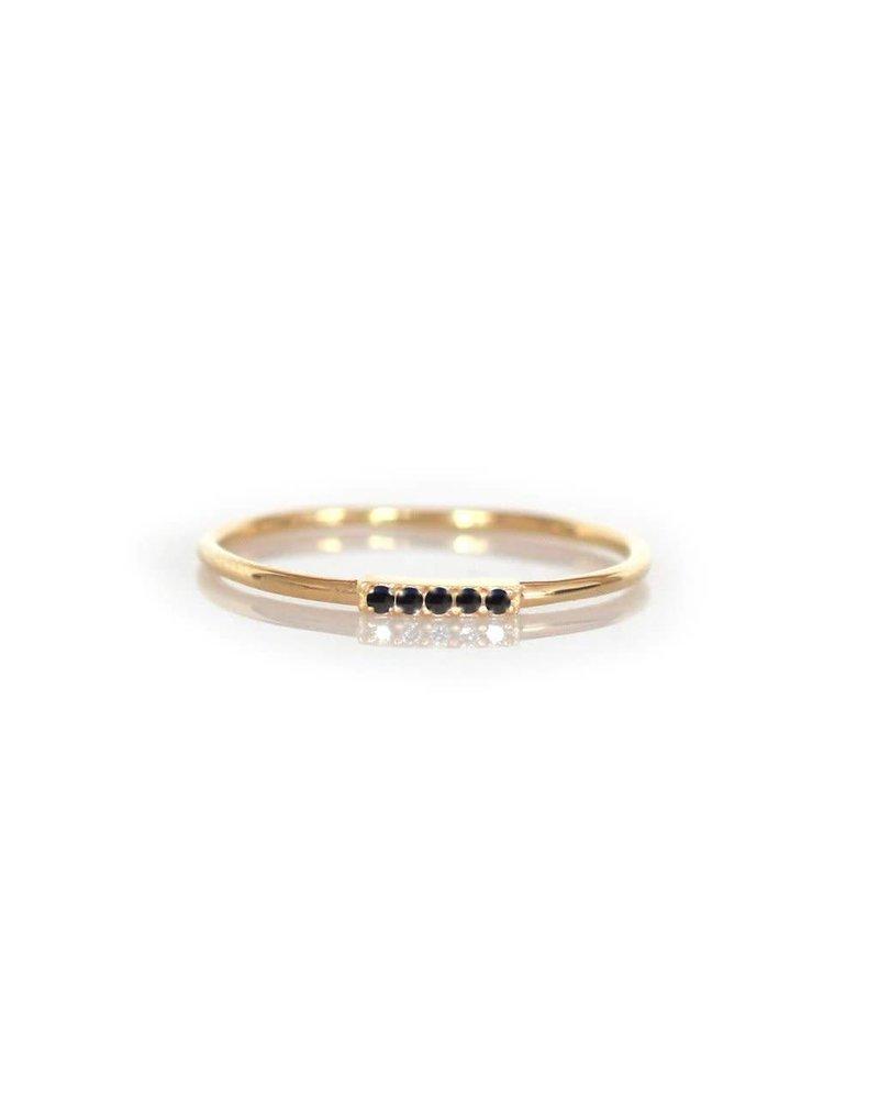 La Kaiser La Kaiser Alinea Ring with Black Diamond- size 6
