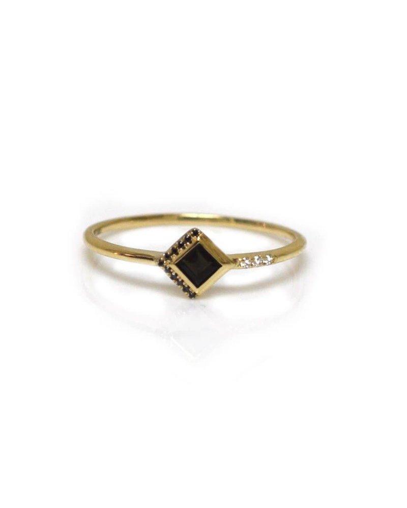 La Kaiser La Kaiser Mysterious Ring with Black Diamond- size 7