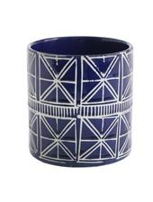 Accent Decor Blue and White Sao Pot