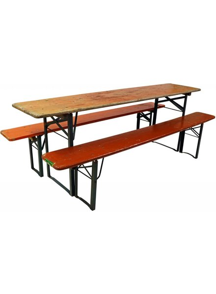 Beer Table Set- Table with 2 Benches