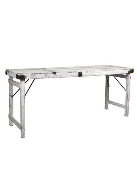 Antique Wood Wedding Table- White