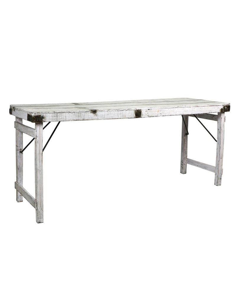 Blue Ocean Traders Antique Wood Wedding Table- White
