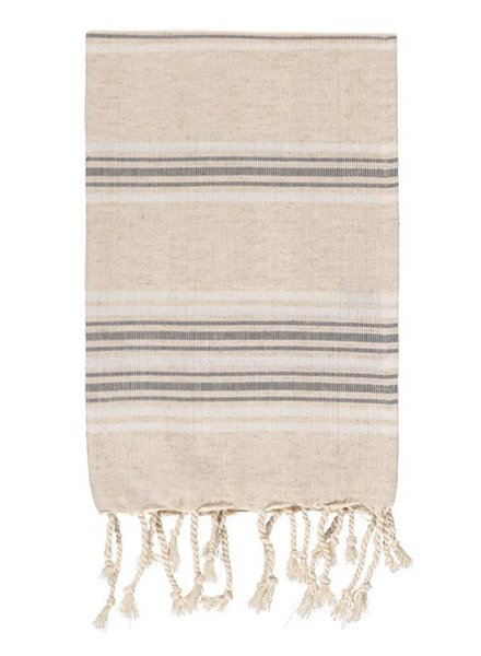 Olive & Loom Lux Linen Hand Towel- Charcoal