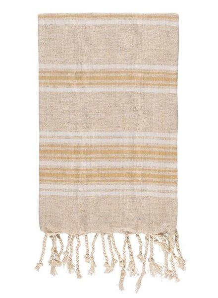 Olive & Loom Lux Linen Hand Towel- Mustard