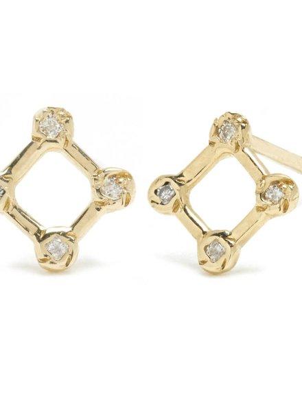 Diamond Window Stud Earring