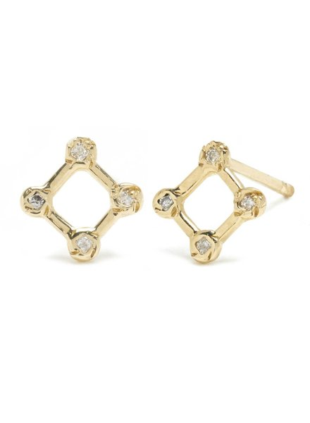 Scosha Scosha Tiny Diamond Window Stud with Diamonds- single