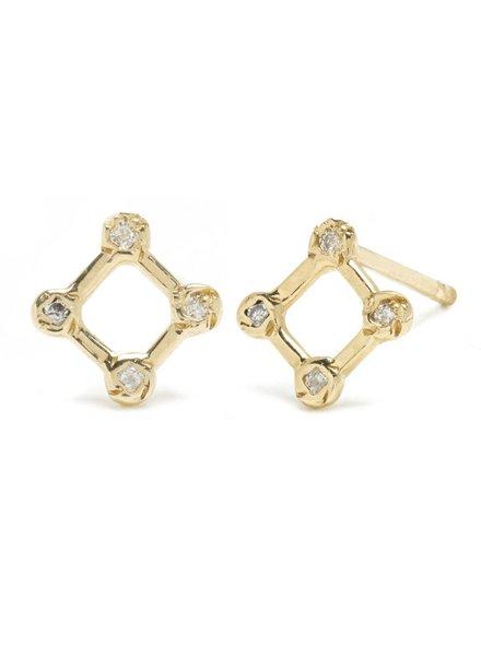 Scosha | Tiny Diamond Window Stud with Diamonds | Single