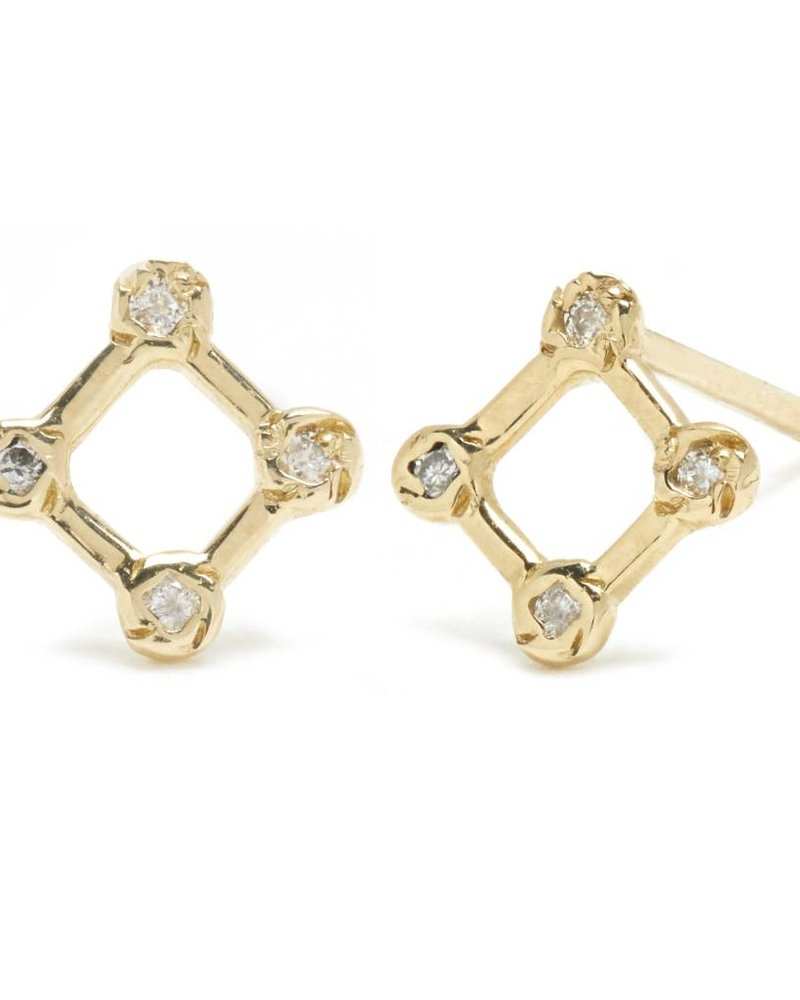 Diamond Window Stud Earring
