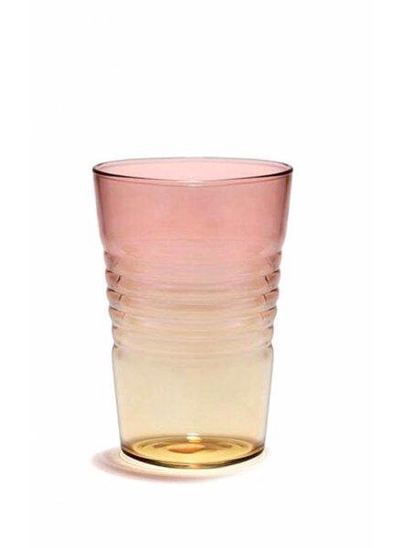 Design Ideas Short Ombre Glass- Pink & Orange