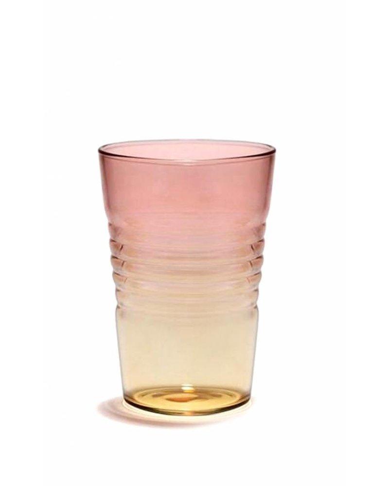 Design Ideas Short Ombre Glass- Pink & Orange