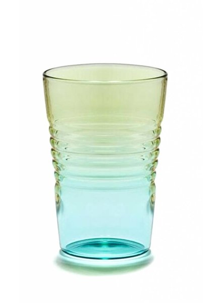 Design Ideas Short Ombre Glass- Blue & Green
