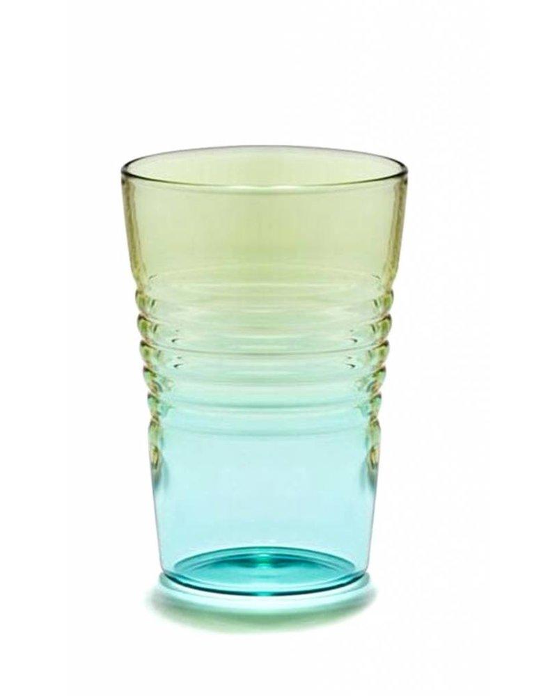 Design Ideas Short Ombre Glass- Blue & Green