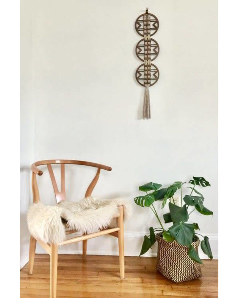 Wanderluxe Ivory Triad Wall Hanging