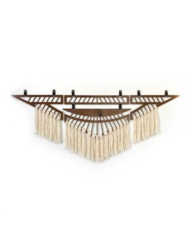 Wanderluxe Walnut and Ivory Thunderbird Wall Hanging