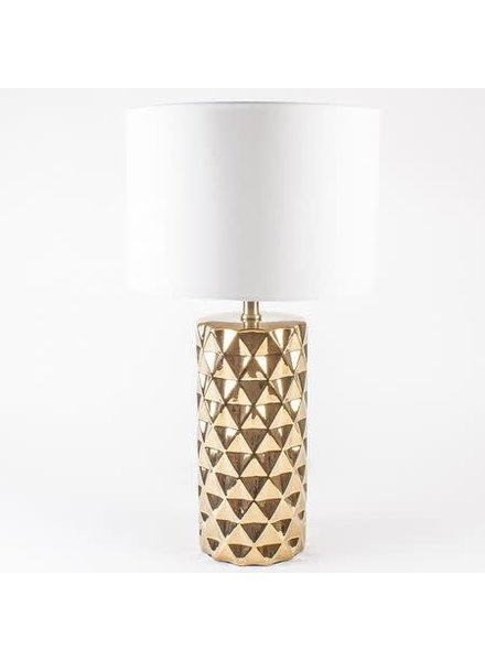 8 Oak Lane Geo Lamp- Gold