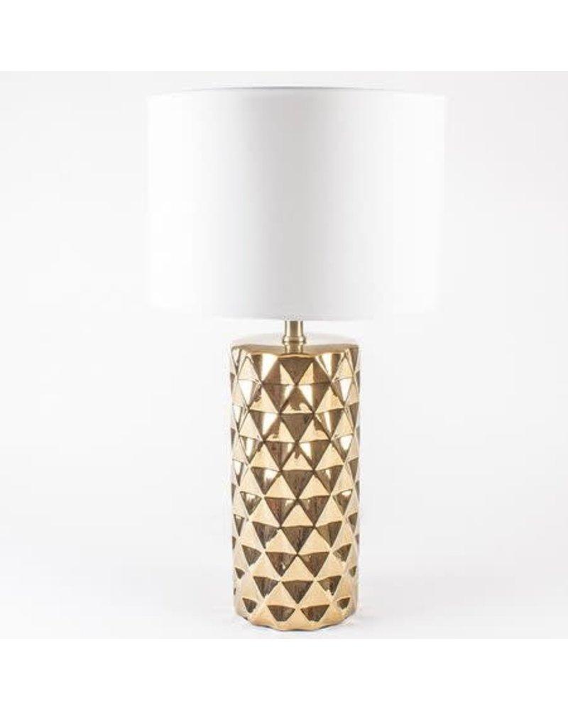 8 Oak Lane Geo Lamp- Gold