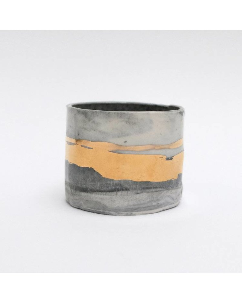 From:fran Mysterious Espresso Cup- Black, Grey, Gold