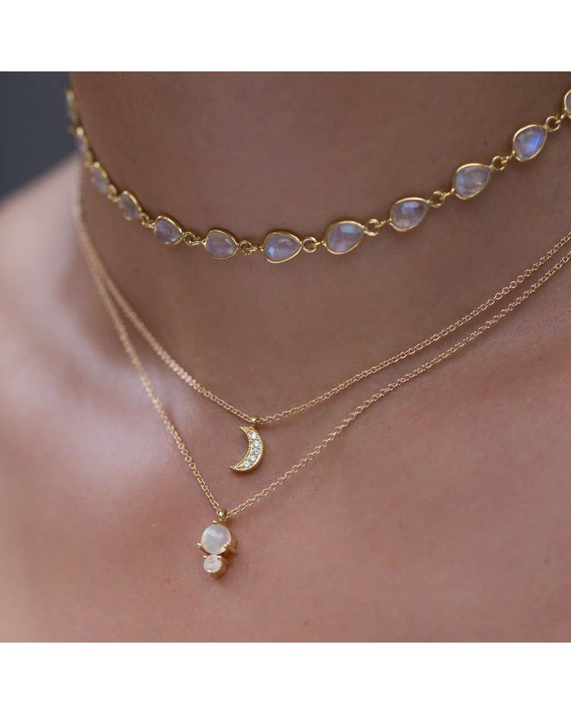 Leah Alexandra Leah Alexandra Opal Necklace w/ Moonstone