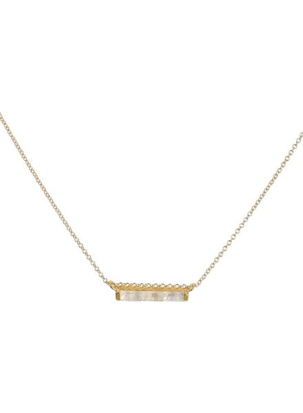 Leah Alexandra Leah Alexandra Channel Necklace w/ Moonstone