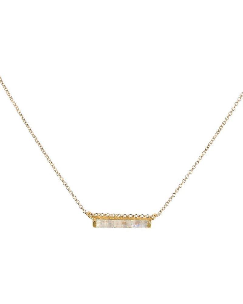 Leah Alexandra Leah Alexandra Channel Necklace w/ Moonstone