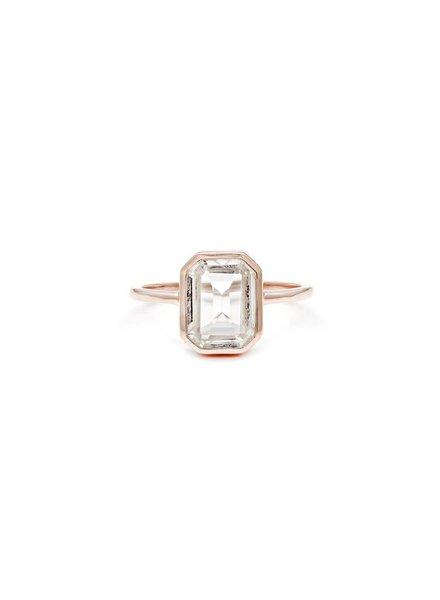 Leah Alexandra Emerald Cut Ring w/ Topaz Sz. 6