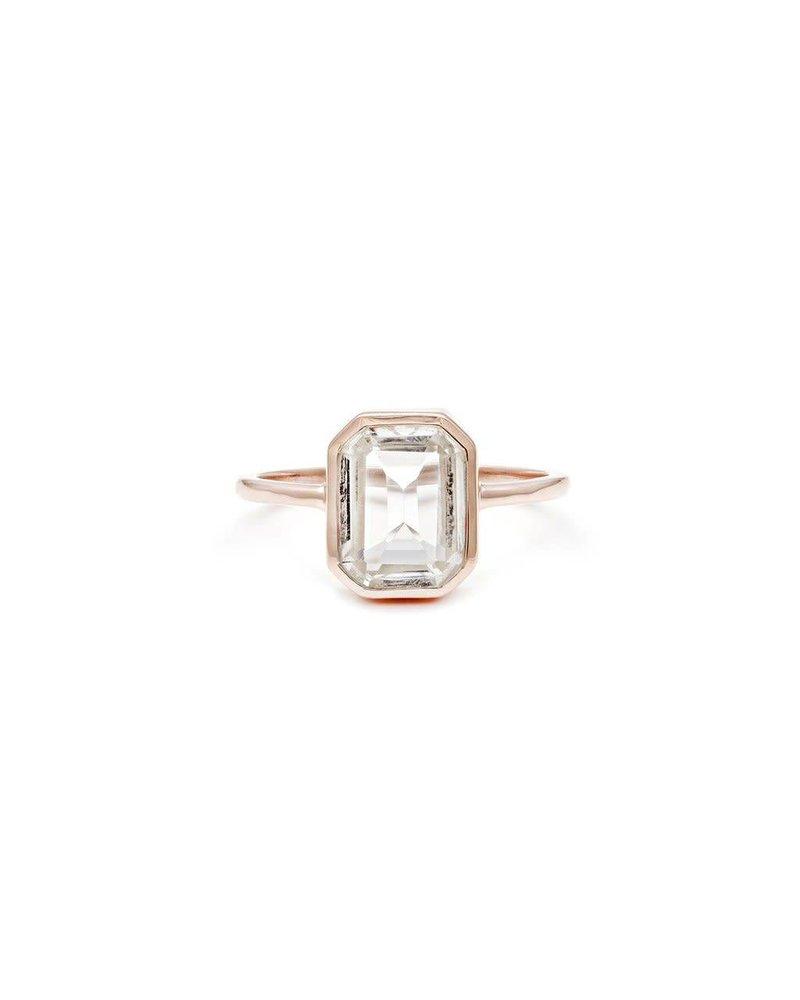Leah Alexandra Emerald Cut Ring w/ Topaz