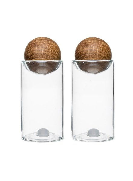 Sagaform Inc Oak Salt and Pepper Shakers (set of 2)