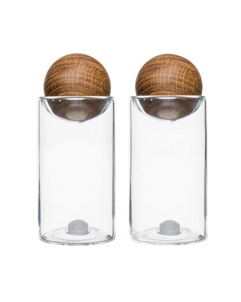 Oak Salt and Pepper Shakers (set of 2)