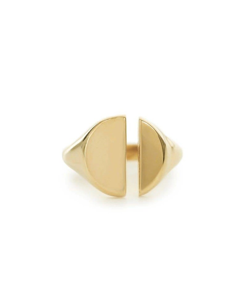 Bing Bang Bing Bang Divided Signet Ring, sz 6