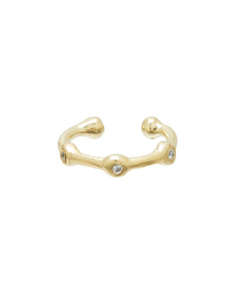 Scosha Scosha 10k Trio Diamond Ear Cuff