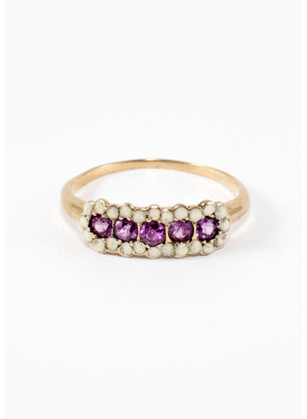 Vintage Jewelry Vintage Victorian Pink Sapphire Ring- size 7.5