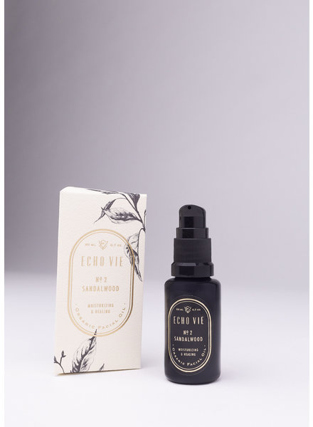 Echo Vie | No. 2 Sandalwood | Moisturizing & Healing Facial Oil |  20ml